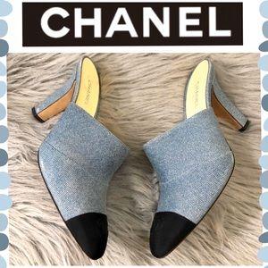 Authentic CHANEL Denim heels